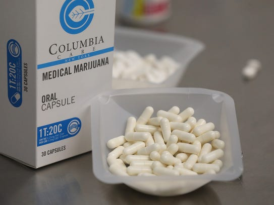 An example of Columbia Care medical marijuana in capsule