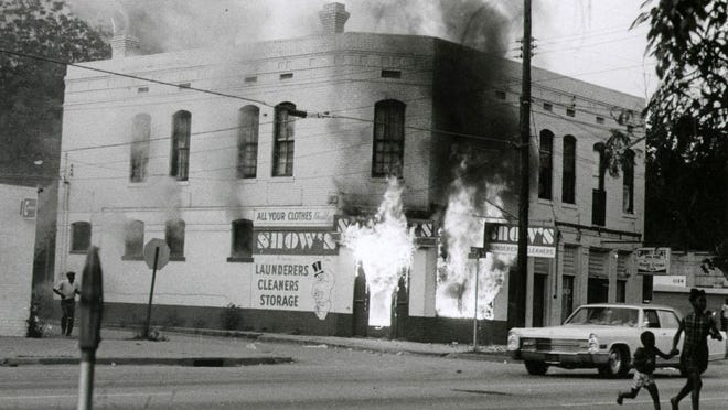 In the civil unrest from May 11-12, 1970, hundreds of people looted and set fire to businesses in the Black business district in Augusta. The National Guard was called in and six black men were killed by white police officers. All of them were shot in the back.