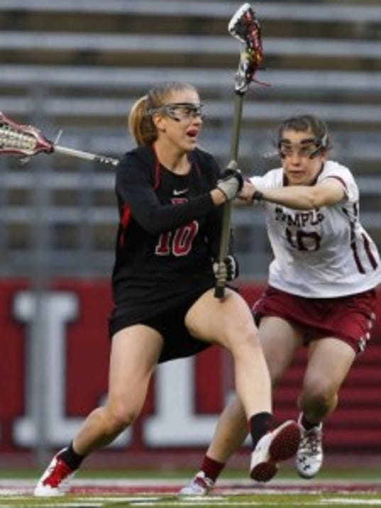 Lauren Sbrilli, a rising fifth-year senior from Bridgewater-Raritan High School, was an All-Big East first-team selection this spring after recording a team-best 30 goals and 37 points. (Photo courtesy Rutgers Athletics)