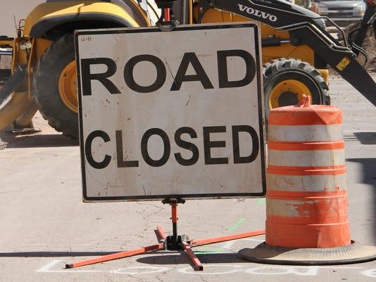 Alamogordo Road Closed Sign