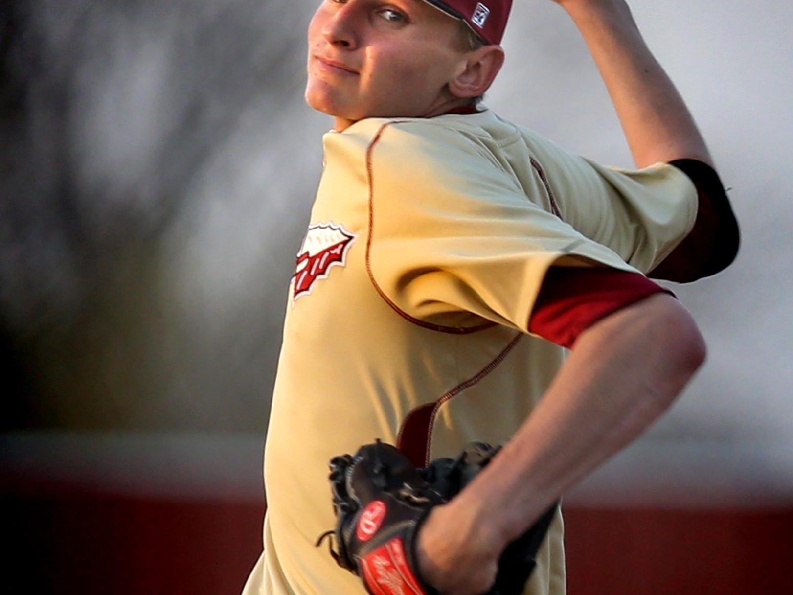 Riverdale's Dylan King struck out 13 in the Warriors' 4-2 win over Siegel Tuesday, March 31, 2015.