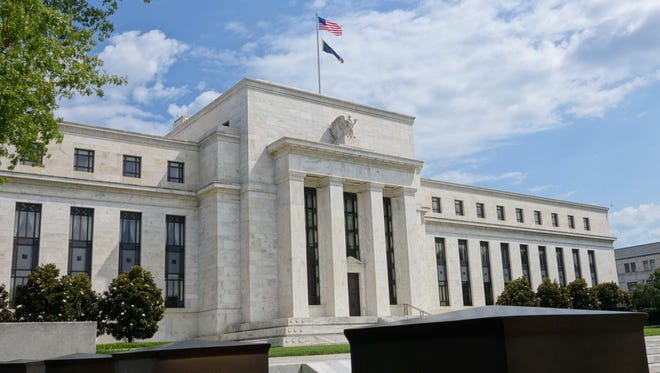 The U.S. Federal Reserve building  in Washington, DC.