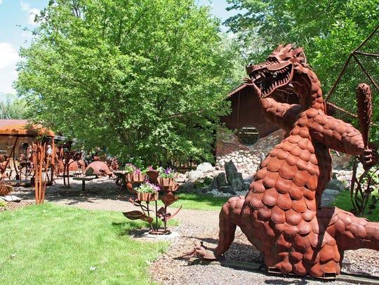 The Jurustic Park menagerie of scrap iron creatures
