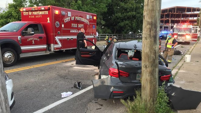 A Sunday evening crash on Maplewood Avenue resulted in a 24-year-old being charged with driving while intoxicated, police said.