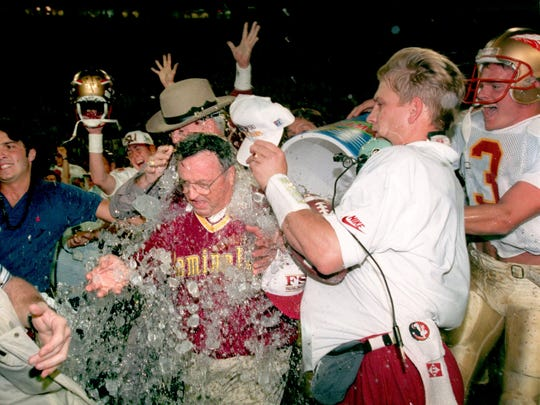 Bobby Bowden and the Florida State Seminoles won their first national championship in 1993 by beating Nebraska in the Orange Bowl. FSU was ranked in the AP poll for every single week of the 1990s.