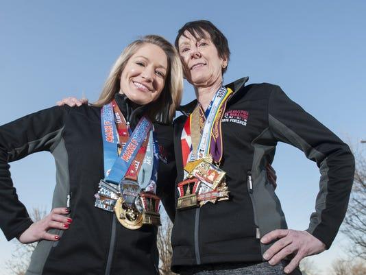 Mom and daughter run
