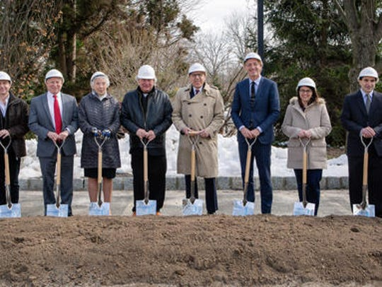 The groundbreaking ceremony was attended by David M.