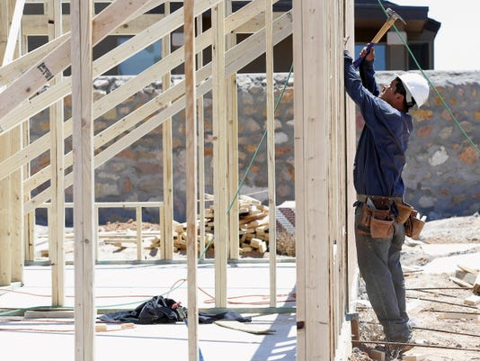 Construction continues on a Zia home in the Mesquite Hills neighborhood of Northeast El Paso.