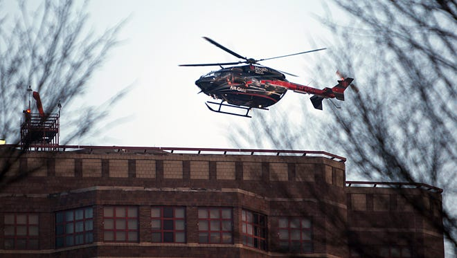 A Brown County resident was flown to the hospital after his oxygen tank blew up Thursday.