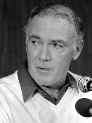 Seahawks coach Chuck Knox, shown in 1983, led the team for nine years. He had four head coaching stints with three teams.