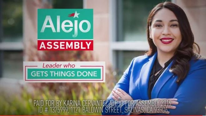 Political candidate for Assembly Karina Cervantez Alejo's campaign office are launching television ads.