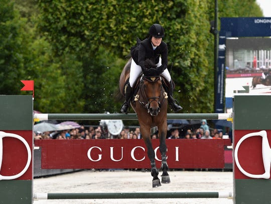 Jessica Springsteen rides Vindicat W during the Gucci