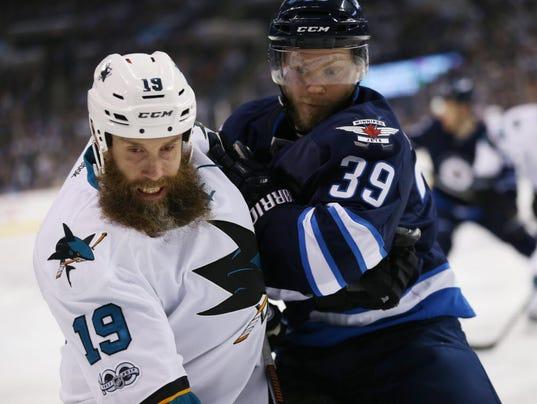 USP NHL: SAN JOSE SHARKS AT WINNIPEG JETS S HKN WPG SJS CAN MA