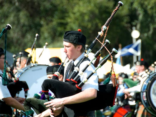 Several bagpipes were played at the Scottish Highland