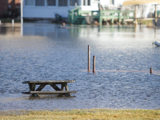 High water levels of Ore Lake have encroached on the