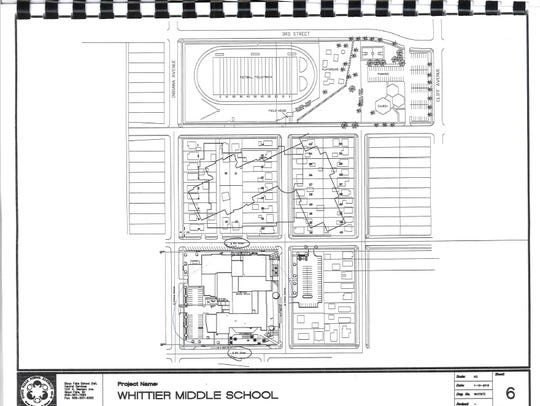 The potential plan to replace Whittier Middle School,