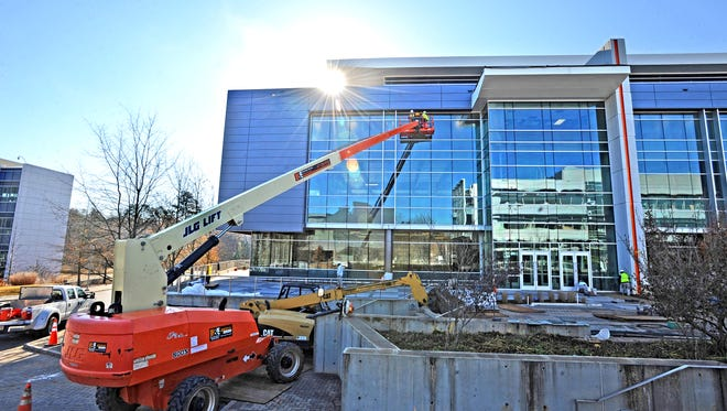 Construction crews are building a new office building at ICAR that will house a new operational headquarters for JTEKT Corporation.