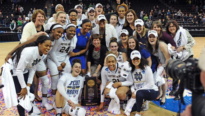 Notre Dame celebrates the eighth Final Four appearance in school history.