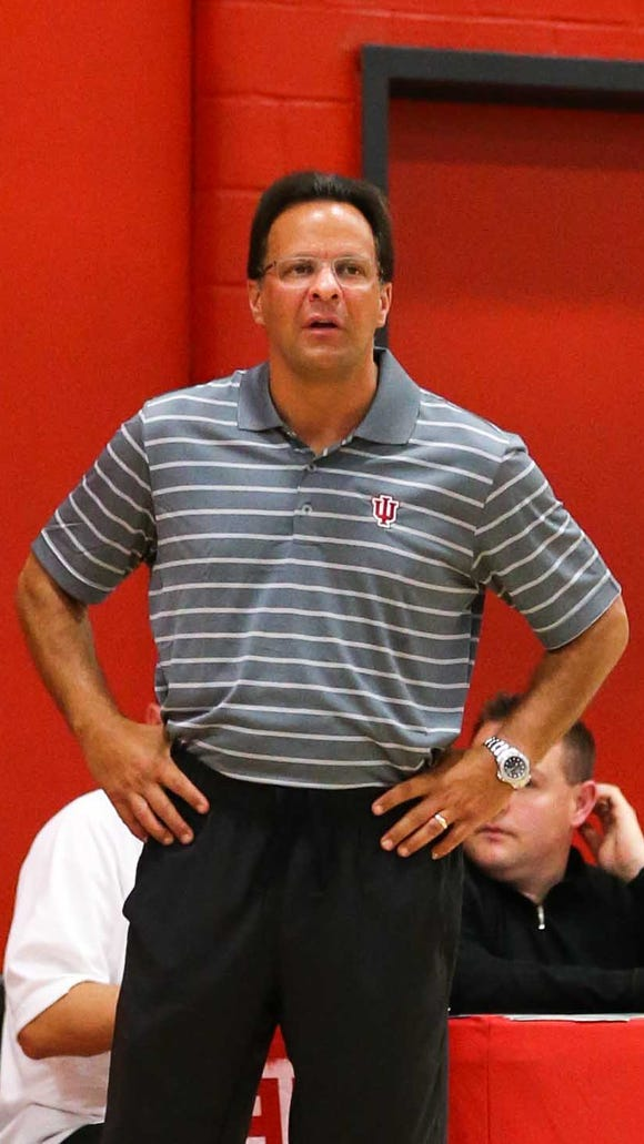 Tom Crean opened practice to the media on Monday.