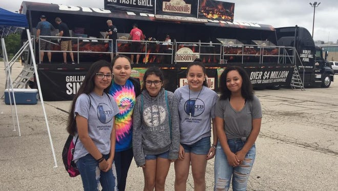 The Big Taste Grill raised over $8,500 for Boys & Girls Club of Fond du Lac. Pictured are, from left: Boys & Girls Club members Jimena Lopez, Yajaira Lopez, Alieen Lopez, Paulina Lopez and Eltayana Wilson.