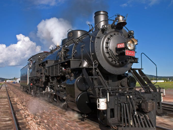 The Grand Canyon Railway steam engine #4960 has been converted to run on 100 percent recycled waste vegetable oil.