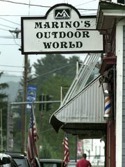 Marino's Outdoor World in Hancock was the site of a burglary of guns in 2002 that matched the ones used in the slaying of Kevin Tarsia.