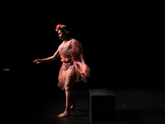 Brittany Onukwugha performs as Peaseblossom during