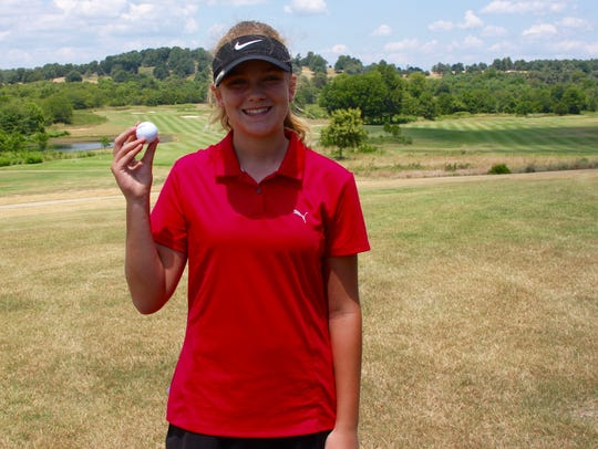 Reagan Webb of Mountain Home nailed a hole-in-one on