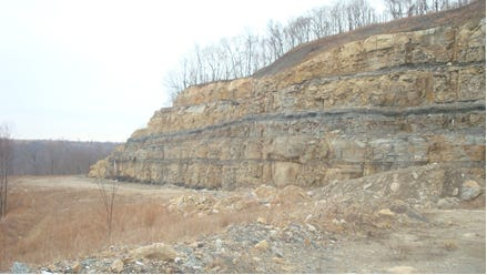 A highwall on Jim Justice's Bent Mountain operation in Pike County, photographed by inspectors for the Kentucky Energy and Environment Cabinet.