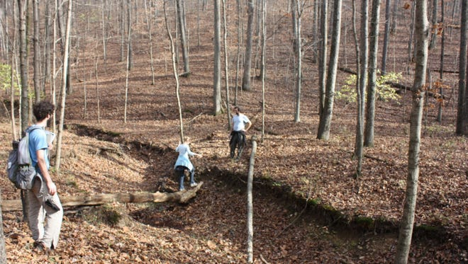 Several residents take a tour of the Nashville Highlands, 200 acres of land between West Meade and Bellevue that  Radnor2River aims to preserve.