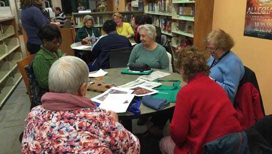 We filled two tables at the Franklin Park branch library