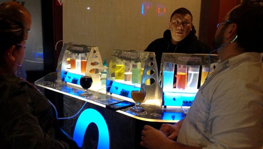 XL Public House patrons visit the oxygen bar last month.