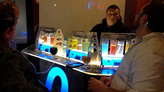 XL Public House patrons visit the oxygen bar last month.