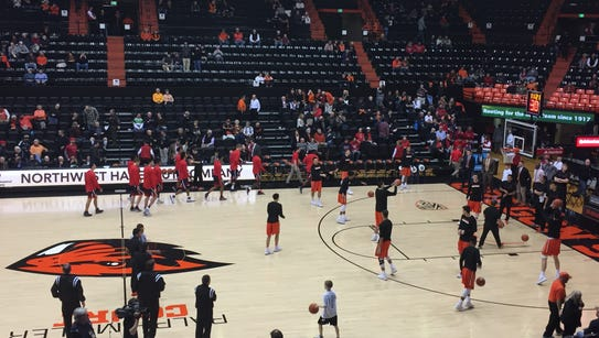 Pregame: Oregon State vs. No. 5 Arizona at Gill Coliseum,