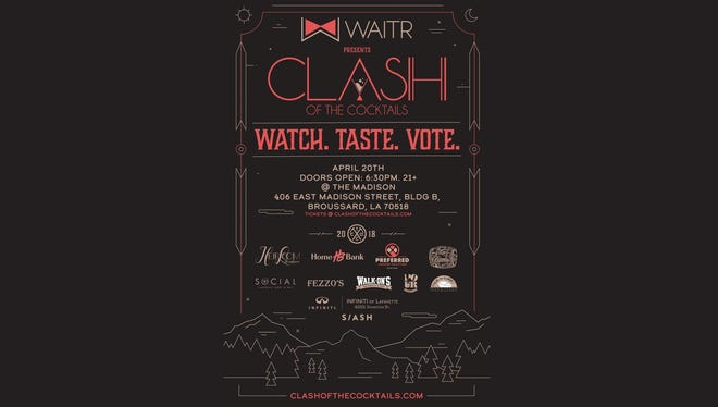 Clash of the Cocktails is April 20th. Enter to win a free pair of passes to the event!