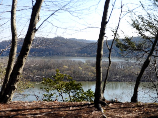 Hikers are rewarded with a view of the Susquehanna