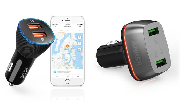 The ROAV (left) and Anker (right) car chargers are