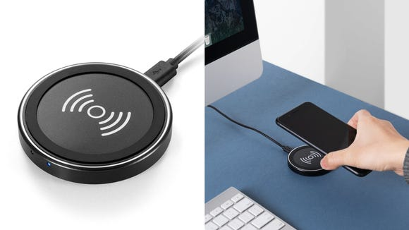 Charge your phone easily with this wireless pad.
