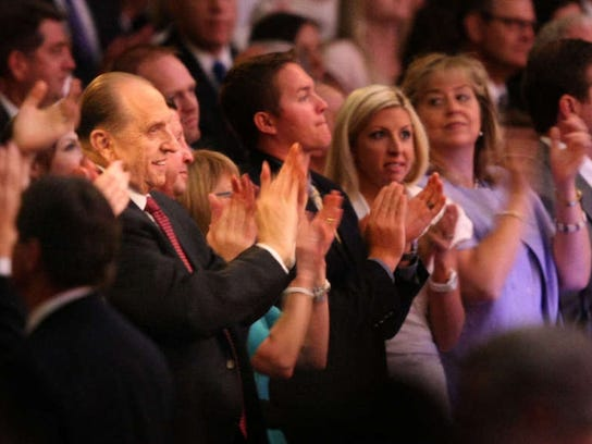 President Thomas S. Monson's 85th birthday party.