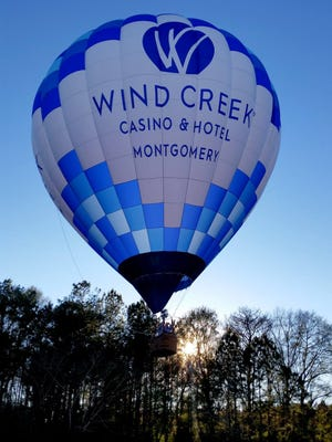 Wind Creek Montgomery's official hot air balloon, piloted by William Davis, will be giving tethered balloon rides during the Food Truck Mash-Up on Nov. 24 at Riverwalk Stadium in Montgomery.