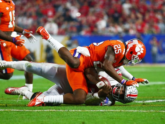 December 31, 2016; Glendale, AZ, USA;  Clemson Tigers