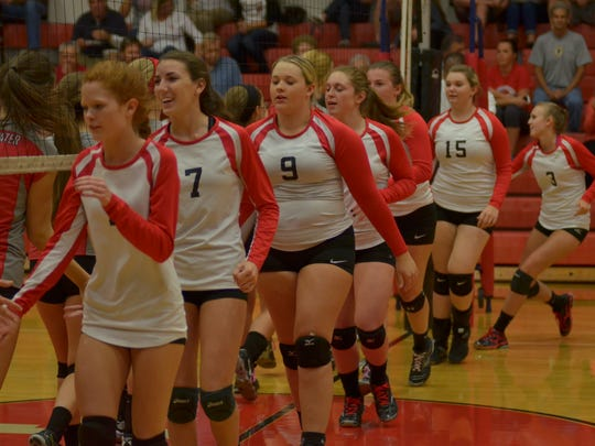 The North Fort Myers volleyball team fell to Clearwater