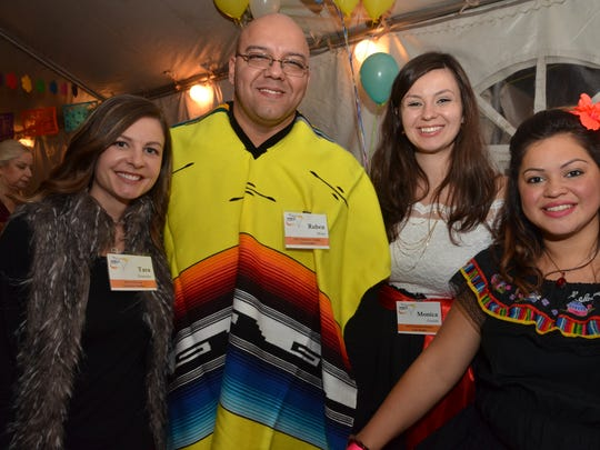 Nurses at Morristown Medical Center donated tents and heaters for the Fiesta Fundraiser held on Nov. 14 in Bedminster. The event raised funds to support more than 100 surgeries in Honduras in February 2016. From left to right: Morristown residents Tara Gonzalez and Ruben Milan, Monica Grzelak of Netcong and Carol Santana of Dover.
