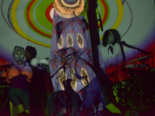 "Of Montreal is shown performing at a concert in Pensacola, Florida. The psychedelic band, known for its landmark 2007 album ""Hissing Fauna, Are You The Destroyer?"" will play Springfield on April 19. 2019."