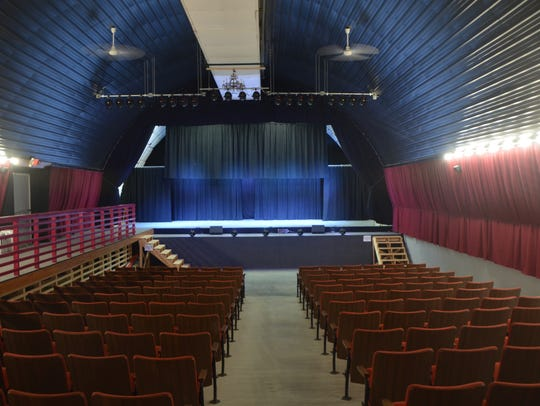 A view of the stage from the back of Quonset Hut Theater