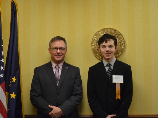 Christian Sharits, right, is one of the local students