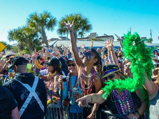 The Krewe of Wrecks Mardi Gras Parade will roll through Pensacola Beach on Sunday.