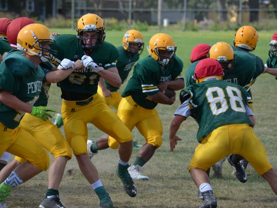 Preseason practice for the 2017 Pennfield Panthers.