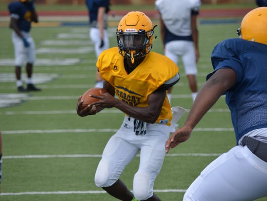 2017 Battle Creek Central football - preseason practice