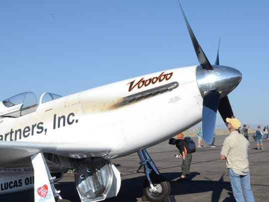 A photo of the Voodoo flown by Steven Hinton Jr. on Sunday at the Reno Air Races.